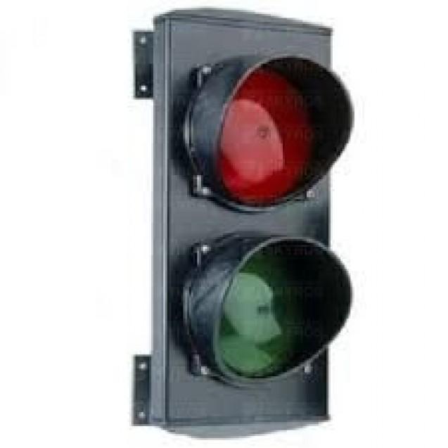Светофор двухсекционный (красный-зеленый) ламповый 230В